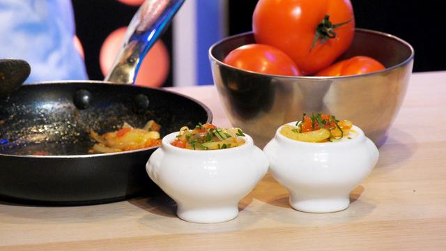 Œuf cocotte à la tomate